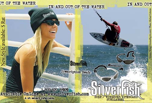 Silverfish ad with blonde girl Talor